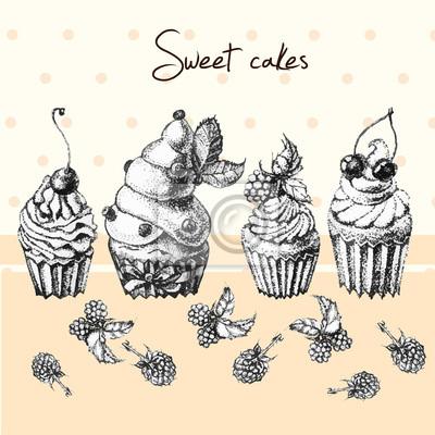 Ilustracja, Słodkie ciasto