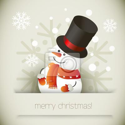 Ilustracja Snowman dla projektu Christmas.
