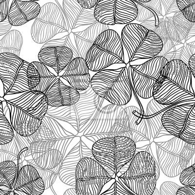 Ilustracja wektora abstrakcyjna koniczyny. (Bez szwu deseń)