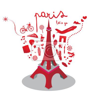 Ilustracja wektorowa paris podróży
