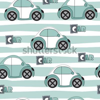 Naklejka Ilustracja wektorowa wzór samochodu