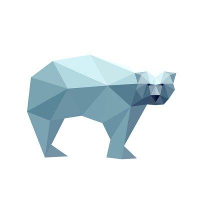 Naklejka Ilustracja z niedźwiedzia wielokąta