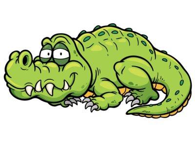 Naklejka Ilustracji wektorowych Cartoon krokodyla