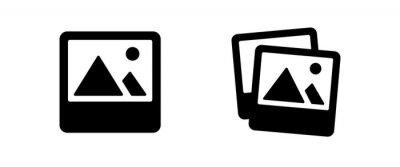 Naklejka image icon . web icon set .vector illustration