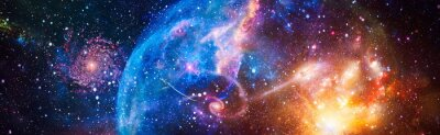 Naklejka Incredibly beautiful galaxy in outer space. Billions of galaxies in the universe. Abstract space background. Elements of this image furnished by NASA