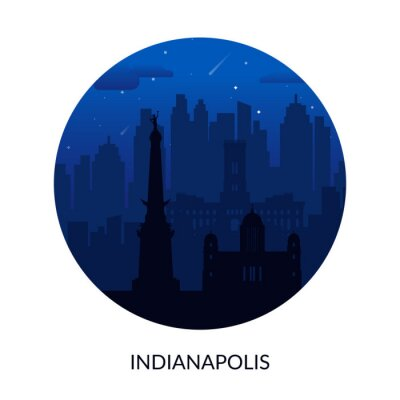 Indianapolis, USA famous city scape background.