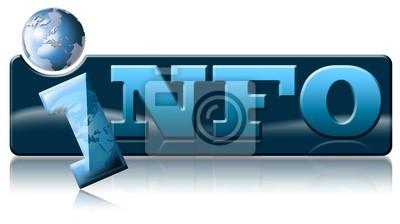 Informacje glob ikona