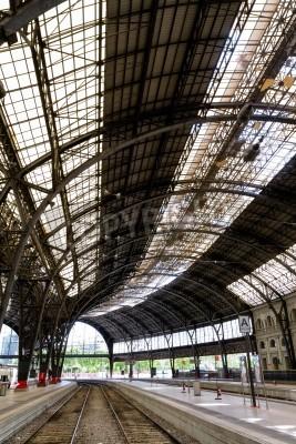 Naklejka Interesting railway station inside photo