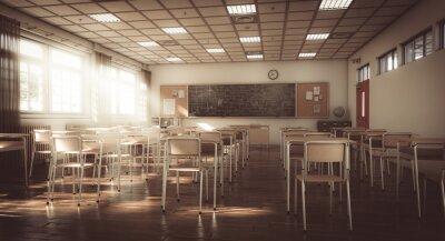 Naklejka interior of a traditional primary school