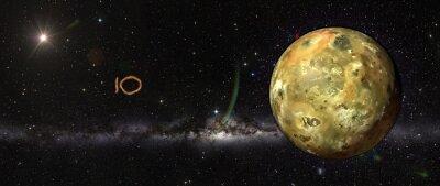 Naklejka Io w przestrzeni kosmicznej.