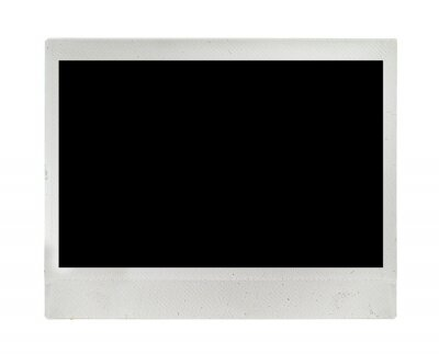 Isolated Wide Instant Photo Frame Card. Realistic Vintage Grunge Dirty Texture.