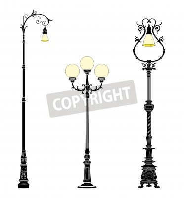 Naklejka Italian forged iron elegant street lamps