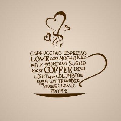Naklejka Izolowane ikonę filiżanki kawy