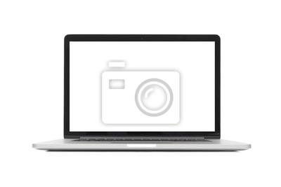 Naklejka izolowane laptopa z pustego miejsca na białym tle