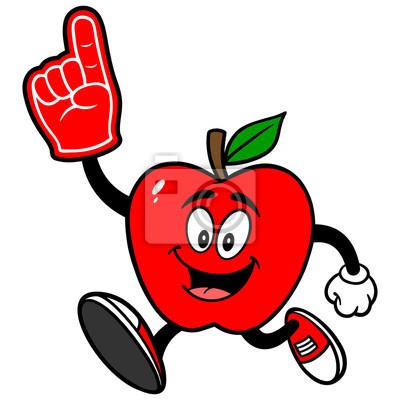 Jabłko Biegając z pianki palca