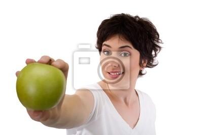 jabłko i dziewczyna