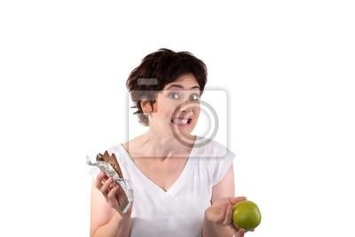jabłko lub czekoladę