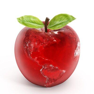 Naklejka Jabłko ziemia