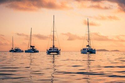 Naklejka Jachty rekreacyjne na Oceanie Indyjskim