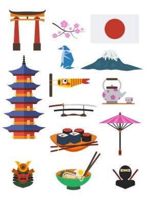 Naklejka Japanese Culture Set