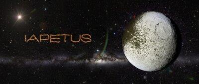 Naklejka Japetus w przestrzeni kosmicznej.