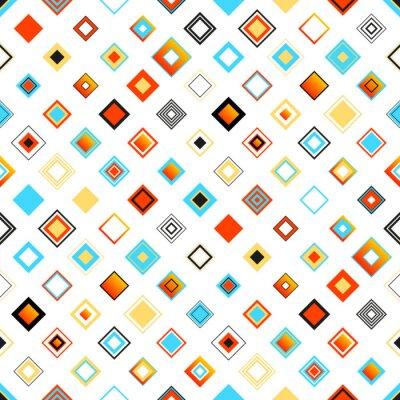 Naklejka Jasne Kolorowe Bezproblemowa geometryczny wzór z kwadratów