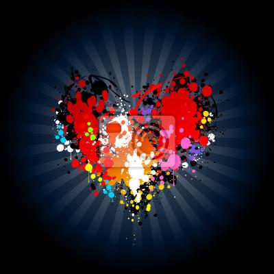 Jasne powitalny atramentu w kształcie serca