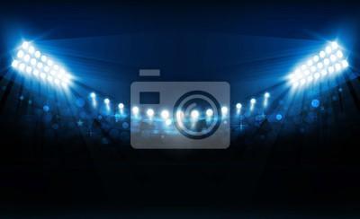 Naklejka Jasne światła stadionu wektor wzór. Oświetlenie wektorowe