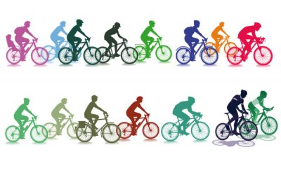 Naklejka Jazda na rowerze w grupie