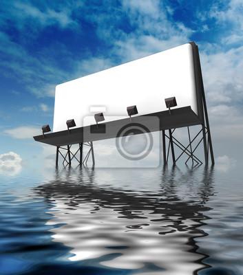 jeden jasny budowa billboardów stojących w wodzie
