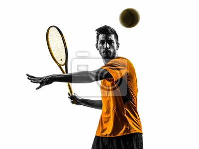 jeden tenisista sylwetka portret