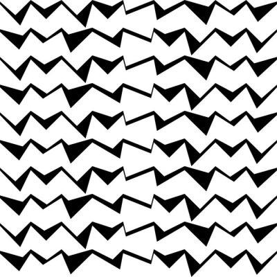 Naklejka Jednolite czarne i białe dekoracyjne tło wektor z abstrakcyjnej geometryczny wzór