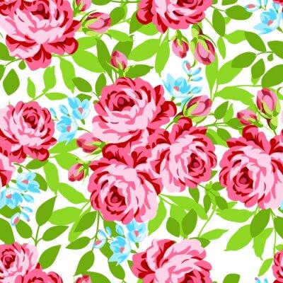 Naklejka Jednolite kwiatowy wzór z ogrodu róż