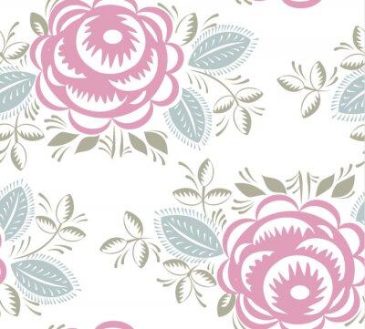 Naklejka Jednolite rocznika wzór róże