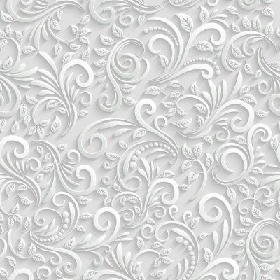 Naklejka Jednolite tło kwiatowy 3d