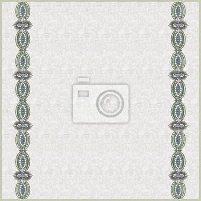 Jednolite tło wzór z ozdobnymi wstążkami. Papier recor