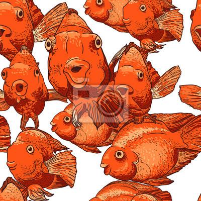 Jednolite tło z ryb
