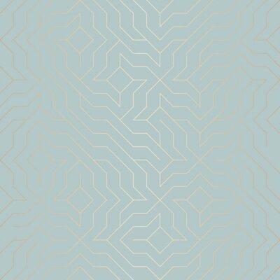 Naklejka Jednolite wektor geometrycznej linii z? Otej linii. Streszczenie miedzi tekstury na niebiesko zielone. Proste, minimalistyczne grafiki. Nowoczesna siatka na kraty. Modna geometria świętej bioder