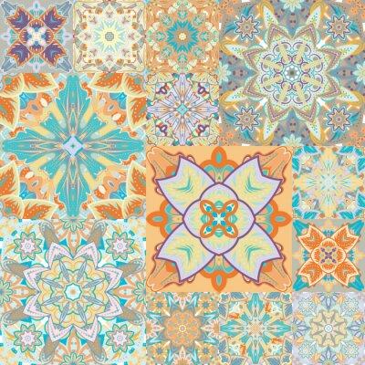 Naklejka Jednolite wektor wzorca. Niejednolita całość. w stylu arabskim. Streszczenie ilustracji.