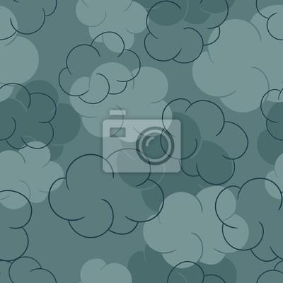 Jednolite wzór z chmury - ilustracji wektorowych.