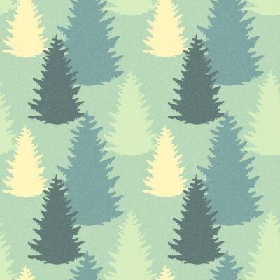 Naklejka Jednolite wzór z drzew świerkowych