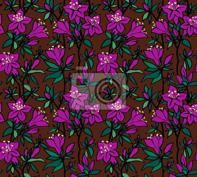 Jednolite wzór z fioletowe kwiaty azalia