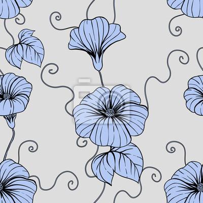 Jednolite wzór z ręcznie narysować kwiaty, ilustracji kwiatów.