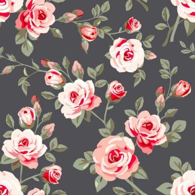 Naklejka Jednolite wzór z róż