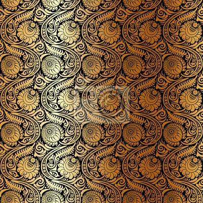 Jednolite wzór z stylizowane chryzantem