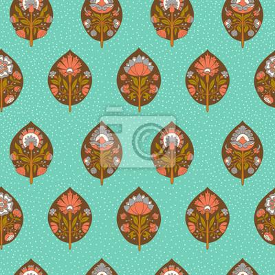 Jednolite wzór z stylizowane kwiaty