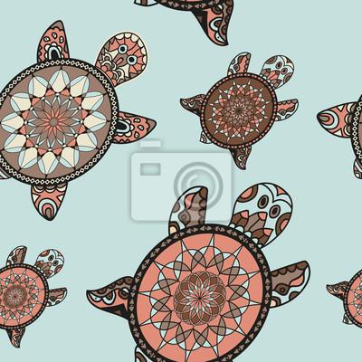 Jednolite żółwia wzór w stylu orientalnym.