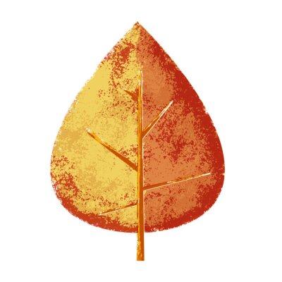 Naklejka Jesień liścia grungy i zwietrzałych rustykalny styl wydruku
