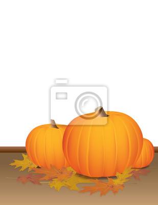 Jesień Pumpkins i kolorowych liści