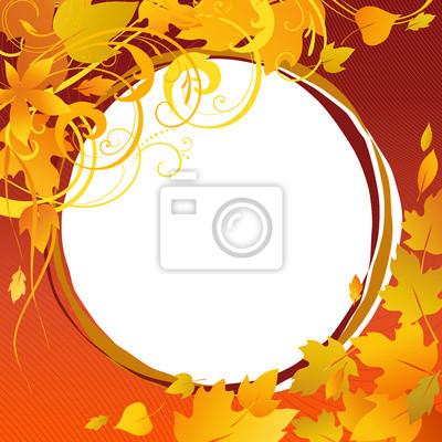 jesienią ramki